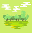 flat forest green nature landscape background vector image vector image
