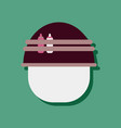 flat icon design collection military helmet with vector image vector image