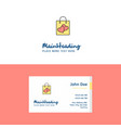 flat shopping bag logo and visiting card template vector image vector image