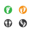 foot therapist logo icon vector image vector image