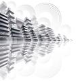 Futuristic city panorama vector image