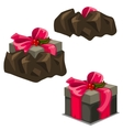 Game release gift box from the trap three stages vector image vector image