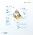 gold 3D pyramid vector image vector image