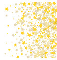golden scattered chaotically confetti-stars vector image