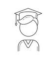 graduate student line icon vector image vector image