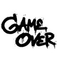 graffiti game over word sprayed isolated on white vector image vector image