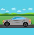 gray sports car vector image