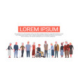 group of senior people over white background vector image vector image