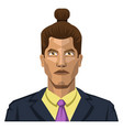 guy with a twisted hair on white background vector image vector image