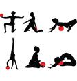 gymnastics girl 2 - vector image vector image