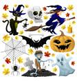 halloween holiday set vector image vector image