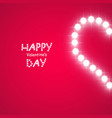 heart of the lamps on a pink background vector image