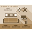 Living room interior infographic template vector image vector image