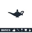Magic lamp icon flat vector image