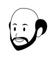 man only face avatar vector image