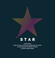 modern colored logo star in a futuristic style vector image vector image