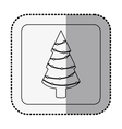 monochrome square with middle shadow sticker with vector image vector image