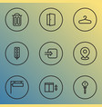 navigation icons line style set with pin way in vector image