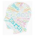 Noah s Flood text background wordcloud concept vector image vector image