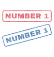 number 1 textile stamps vector image vector image