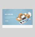 online shopping and delivery vector image