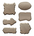 panels from stones and rocks pictures vector image