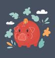 piggy bank style money box vector image vector image