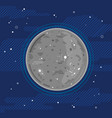 planet mercury in space in flat style vector image vector image