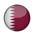 qatar flag in glossy round button of icon qatar vector image