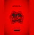red poster for black friday sale vector image vector image