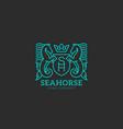 seahorse logo vector image vector image
