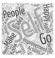 Self Improvement Word Cloud Concept vector image vector image
