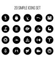 set of 20 editable active icons includes symbols vector image vector image