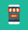 shopping online - e-commerce app for smartphone vector image vector image
