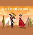 skeletons dancing on cemetery mexican day dead vector image vector image