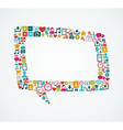 Social media icons isolated speech bubble EPS10 vector image vector image