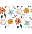 spring texture multicolored flowers on a white vector image vector image