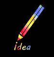 symbol a pencil vector image vector image