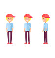 teenager blond construction vector image vector image