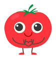tomato icon cartoon style vector image