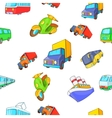 Transport pattern cartoon style vector image vector image