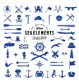 Vintage Sea or Nautical Icon Elements Set vector image vector image