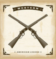 vintage western rifles vector image vector image