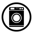 Washing machine button vector image