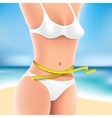 Woman at sea in bikini vector image vector image