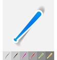 realistic design element baseball bat vector image