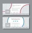 set of banners for the social network vector image