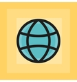 flat earth sphere icon vector image
