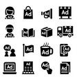 advertising icon set vector image vector image