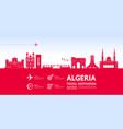 algeria travel destination vector image vector image